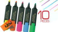Marcador Fluorescente Faber Castell 1-5mm (10)